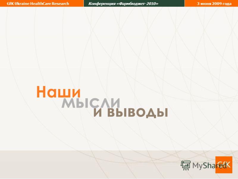 20 GfK Ukraine HealthCare ResearchКонференция «Фармбюджет-2010»3 июня 2009 года мысли и выводы Наши