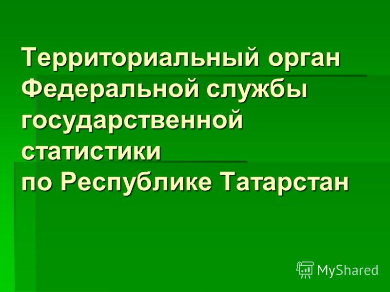 Территориальный орган Федеральной службы государственной статистики по Республике Татарстан