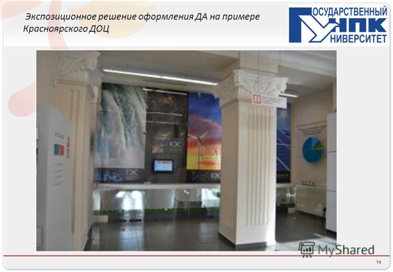 14 Экспозиционное решение оформления ДА на примере Красноярского ДОЦ