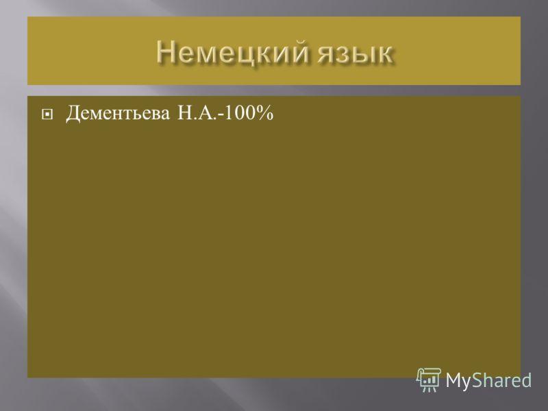 Дементьева Н. А.-100%