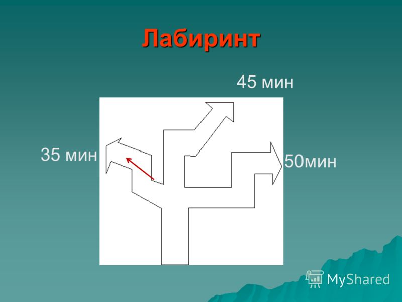Лабиринт 45 мин 50мин 35 мин