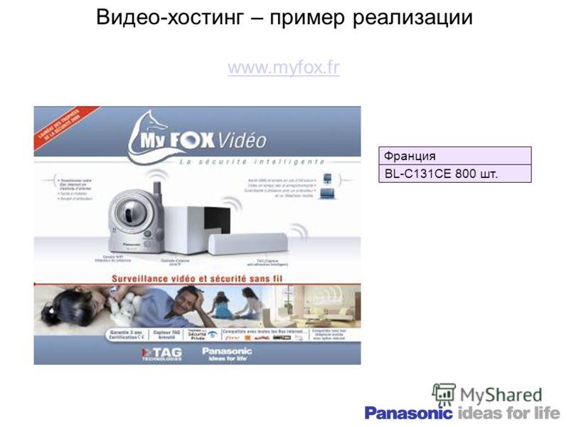 Видео-хостинг – пример реализации Франция BL-C131CE 800 шт. www.myfox.fr