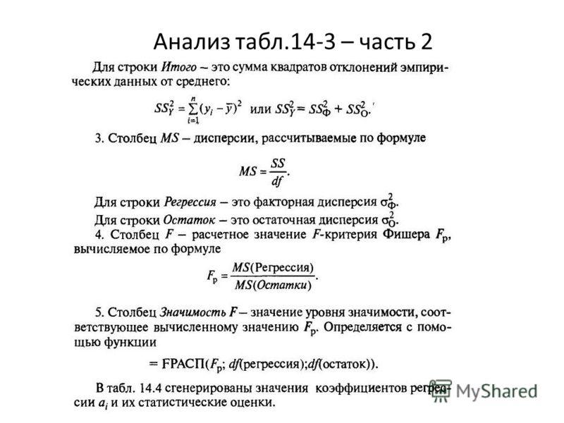 Анализ табл.14-3 – часть 2