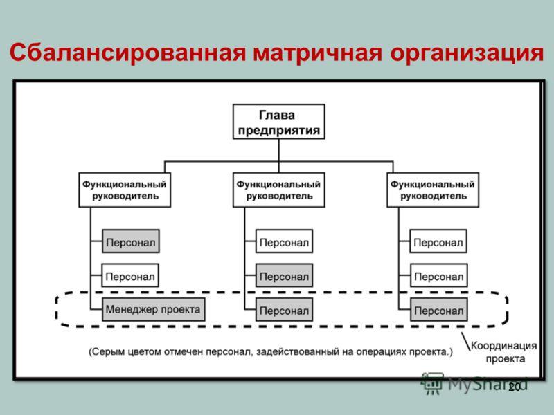 20 Сбалансированная матричная организация