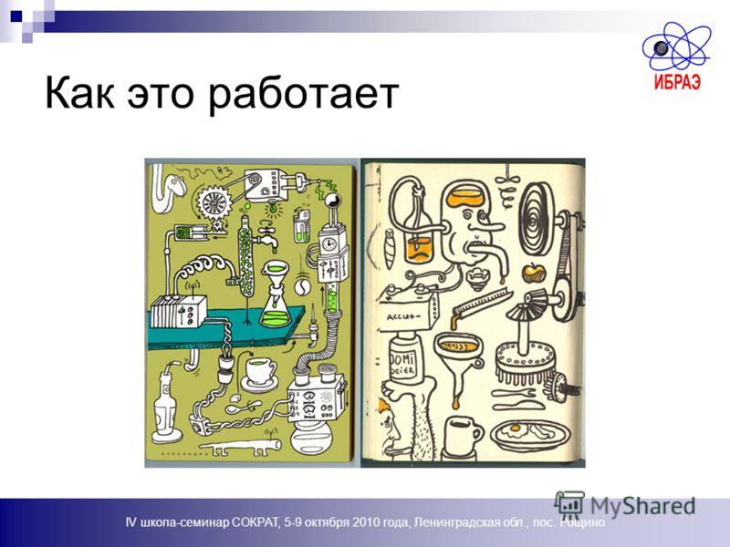 IV школа-семинар СОКРАТ, 5-9 октября 2010 года, Ленинградская обл., пос. Рощино Как это работает