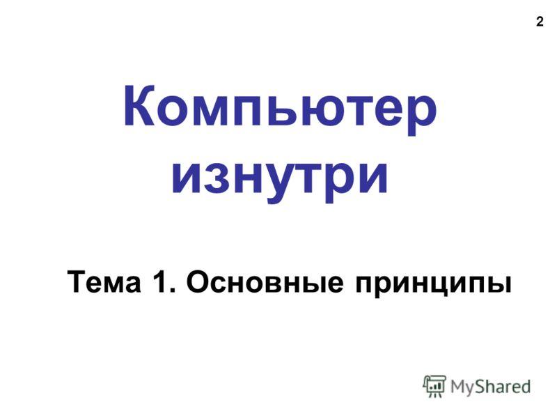 2 Компьютер изнутри Тема 1. Основные принципы