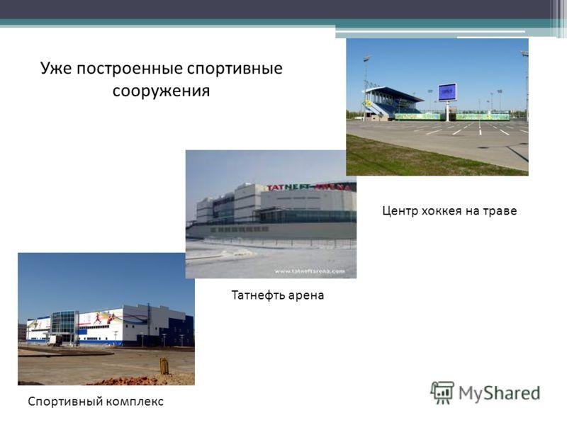 Центр хоккея на траве Спортивный комплекс Татнефть арена Уже построенные спортивные сооружения