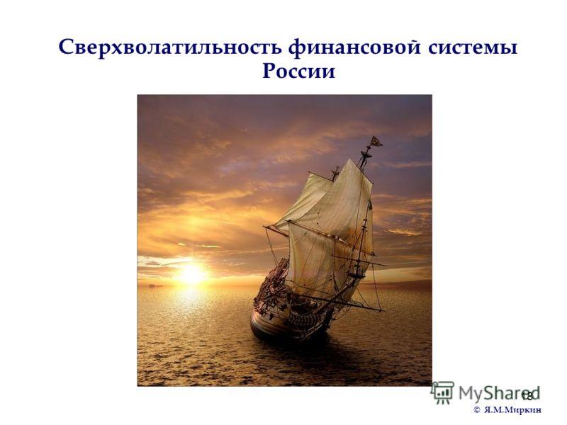 18 Сверхволатильность финансовой системы России © Я.М.Миркин