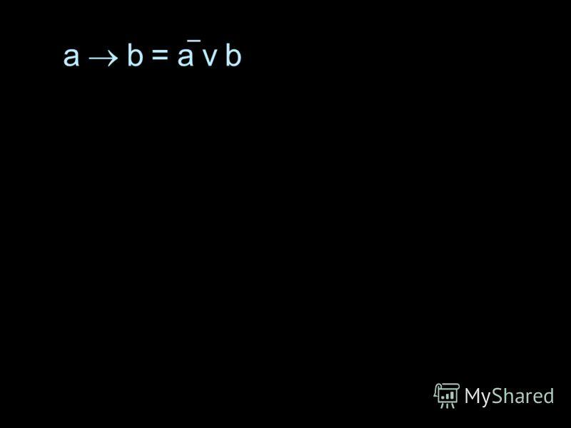 a b = a v b