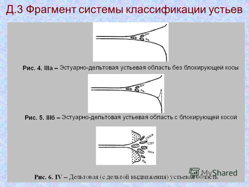 Д.3 Фрагмент системы классификации устьев