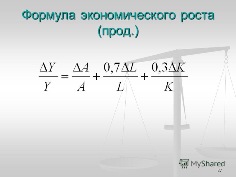 27 Формула экономического роста (прод.)