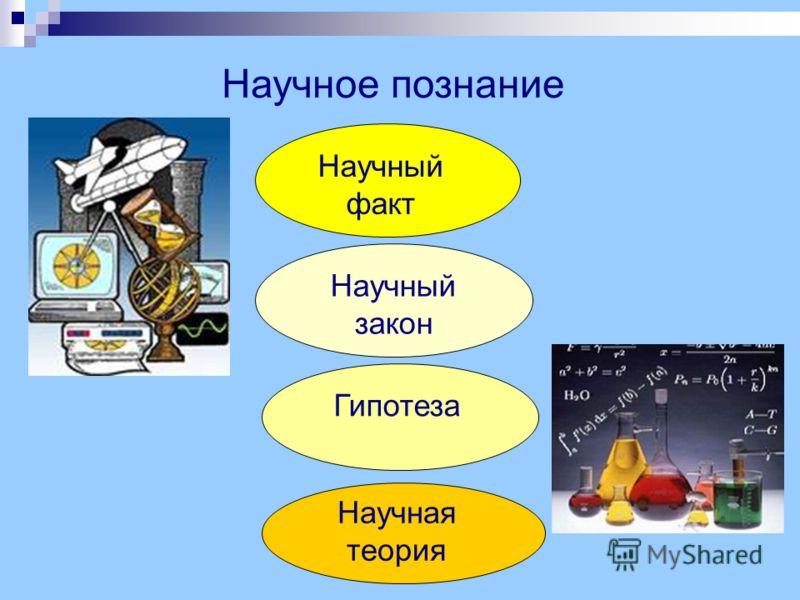 Научное познание Научный факт Научный закон Гипотеза Научная теория