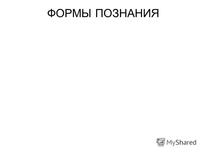 ФОРМЫ ПОЗНАНИЯ