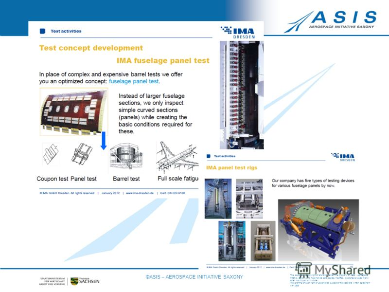 This document is copyright of and shall remain the property of ASIS - AeroSpace Initiative Saxony and must not be sold, copied, modified, published or used in any other way in part or in whole. The granting of such right of use shall be subject of th
