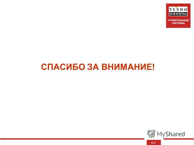 017 СПАСИБО ЗА ВНИМАНИЕ!