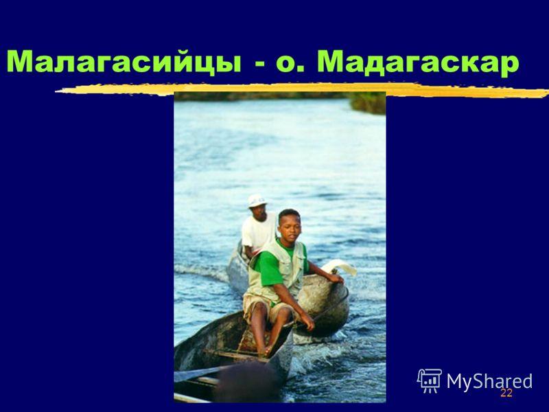 22 Малагасийцы - о. Мадагаскар