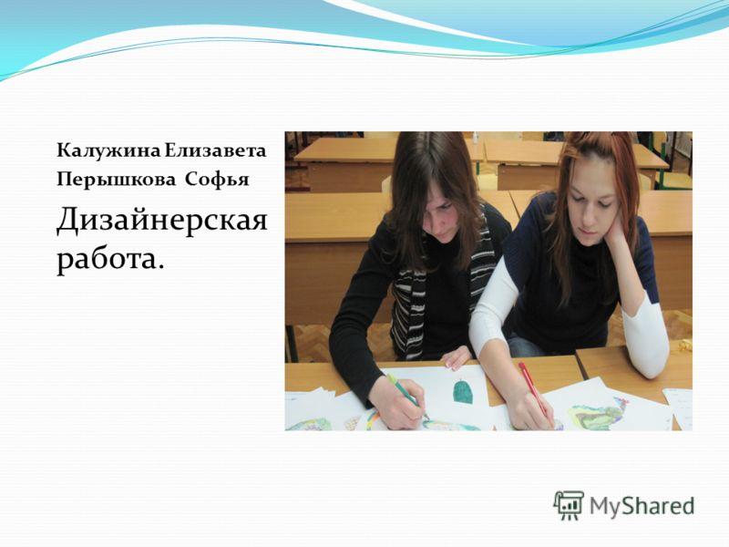 Калужина Елизавета Перышкова Софья Дизайнерская работа.