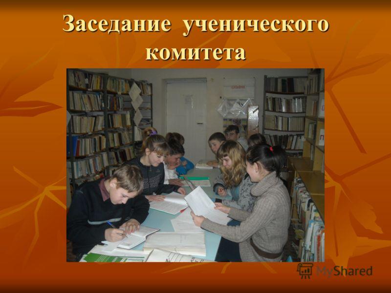 Заседание ученического комитета