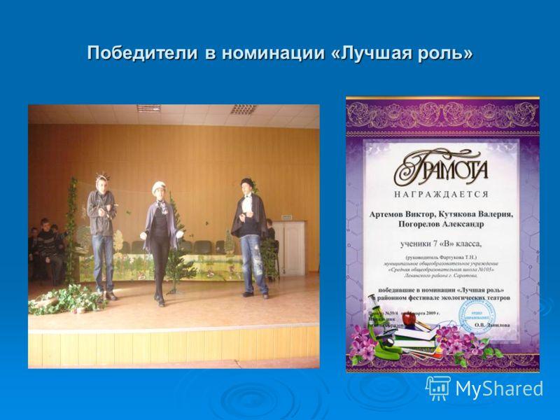 Победители в номинации «Лучшая роль»
