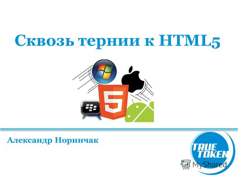 Сквозь тернии к HTML5 Александр Норинчак