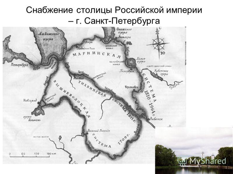 Снабжение столицы Российской империи – г. Санкт-Петербурга
