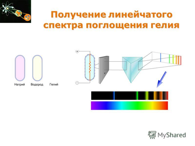 Получение линейчатого спектра поглощения гелия Получение линейчатого спектра поглощения гелия