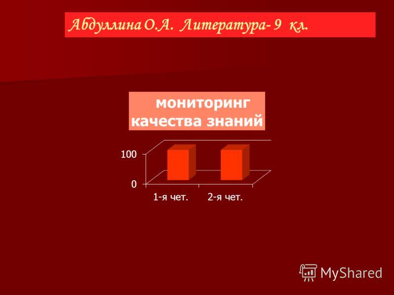 Абдуллина О.А. Литература- 9 кл.