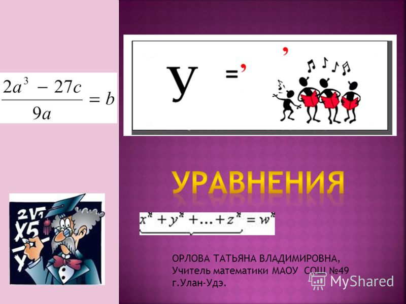ОРЛОВА ТАТЬЯНА ВЛАДИМИРОВНА, Учитель математики МАОУ СОШ 49 г.Улан-Удэ.
