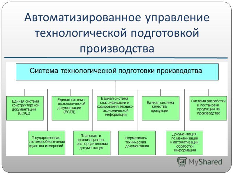 Автоматизированное управление технологической подготовкой производства