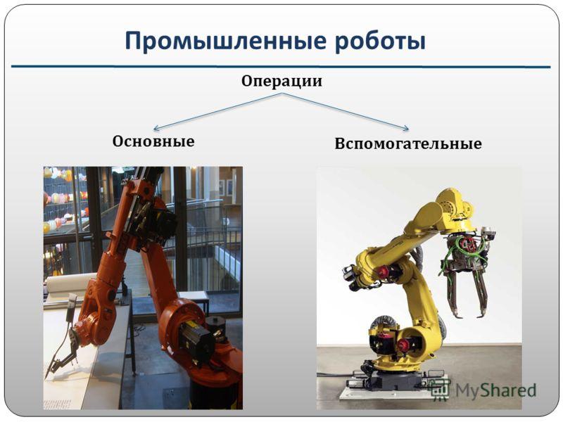 Промышленные роботы Основные Вспомогательные Операции