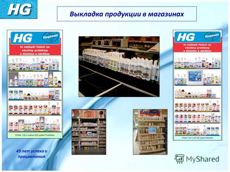 Выкладка продукции в магазинах