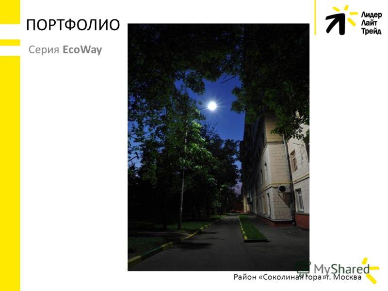 ПОРТФОЛИО Серия EcoWay Район «Соколиная гора»г. Москва