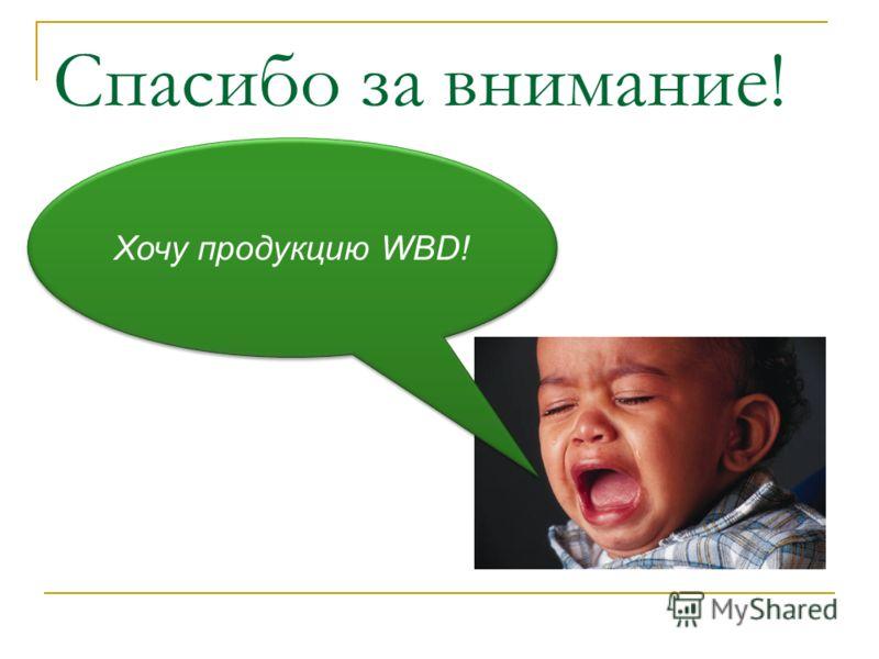 Спасибо за внимание! Хочу продукцию WBD!