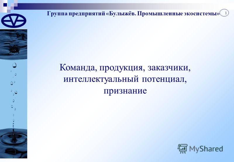 Группа предприятий «Булыжёв. Промышленные экосистемы» 1 Команда, продукция, заказчики, интеллектуальный потенциал, признание