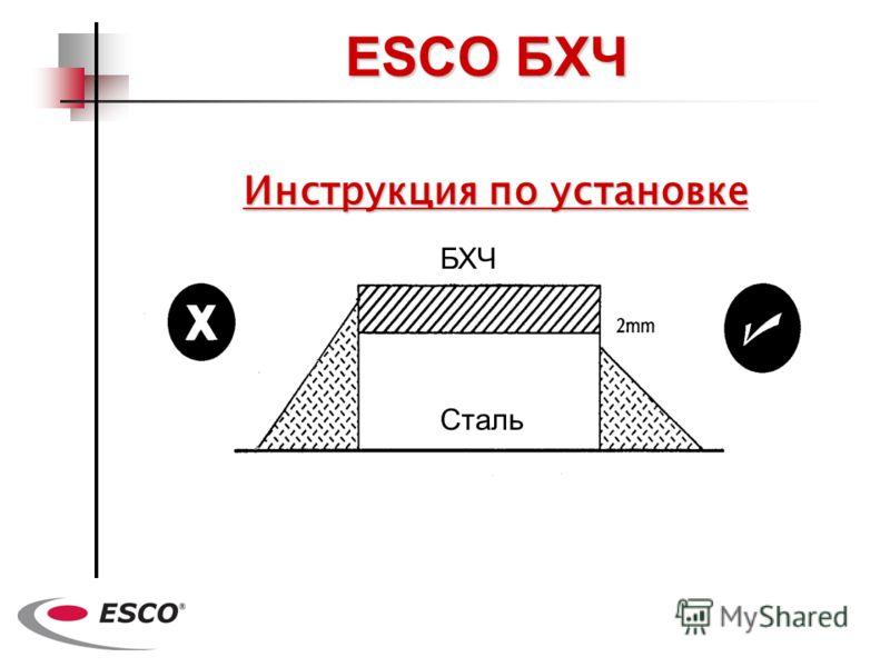 Инструкция по установке ESCO БХЧ Сталь БХЧ