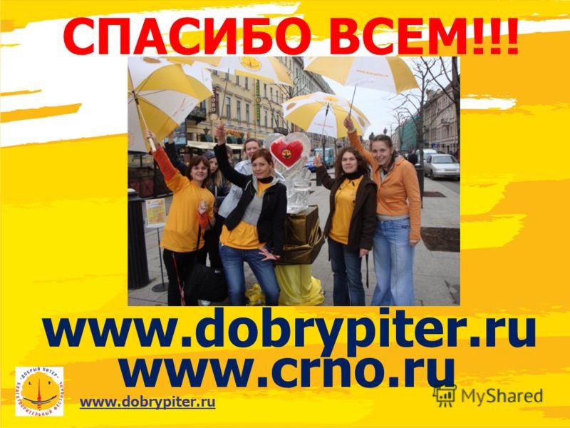 www.dobrypiter.ru СПАСИБО ВСЕМ!!! www.dobrypiter.ru www.crno.ru
