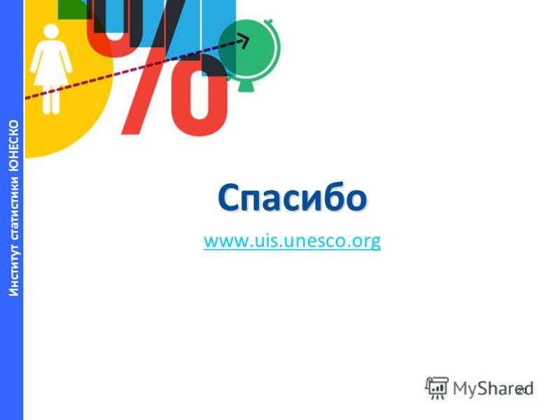 Институт статистики ЮНЕСКО Спасибо www.uis.unesco.org 20