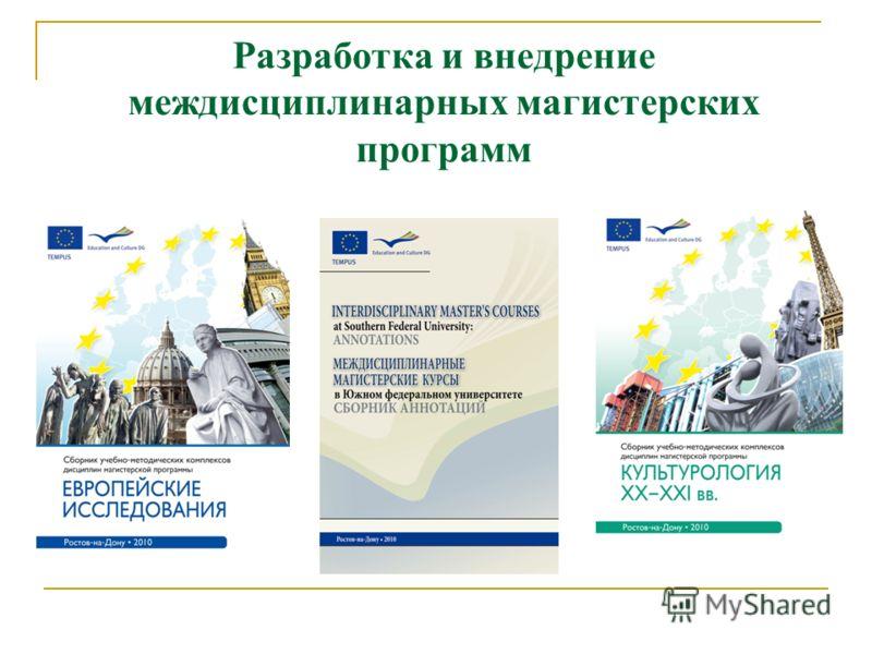 Разработка и внедрение междисциплинарных магистерских программ