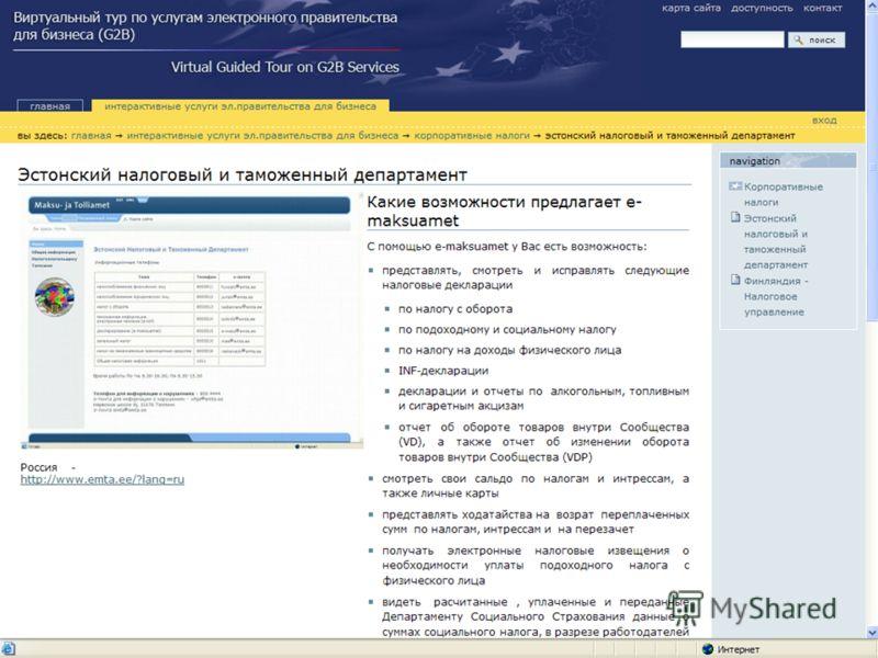 Развитие интерактивных услуг электронного правительства для бизнеса на Северо-Западе России37