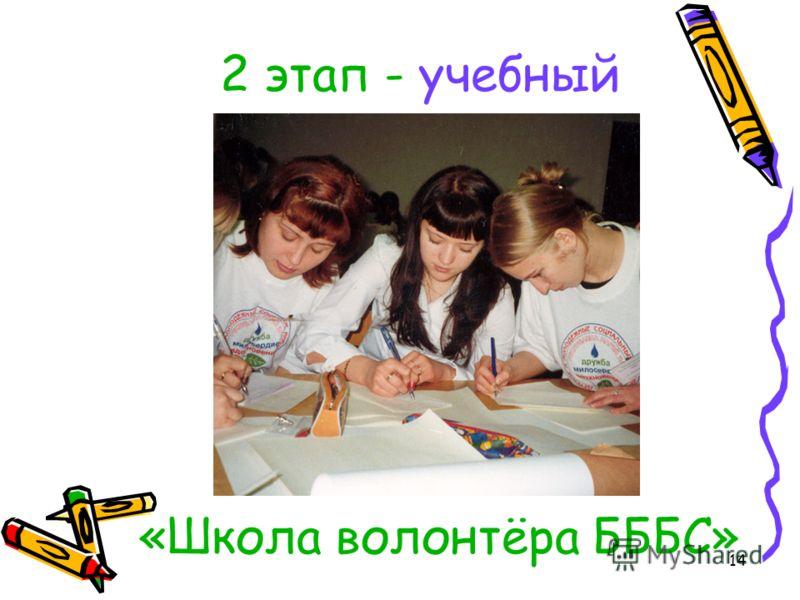 14 2 этап - учебный «Школа волонтёра БББС»