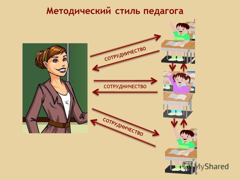 Методический стиль педагога СОТРУДНИЧЕСТВО