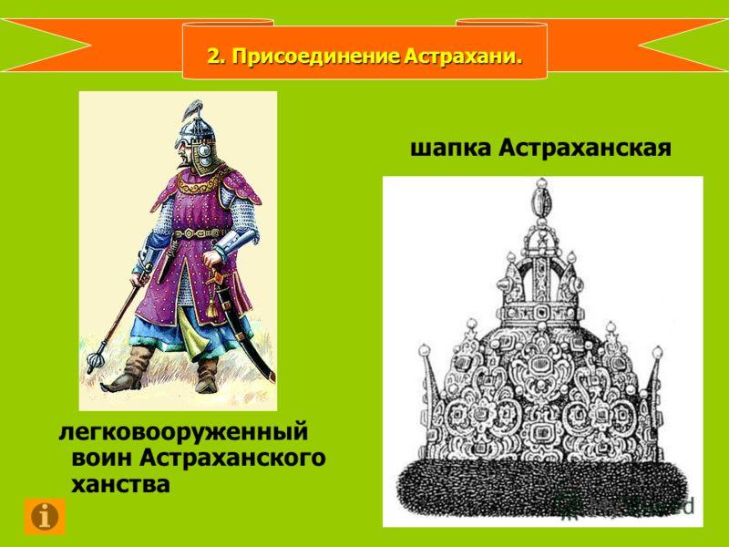 легковооруженный воин Астраханского ханства шапка Астраханская 2. Присоединение Астрахани.