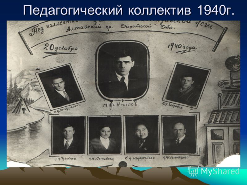 Педагогический коллектив 1940г. Педагогический коллектив 1940г.