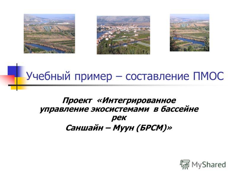 Учебный пример – составление ПМОС Проект «Интегрированное управление экосистемами в бассейне рек Саншайн – Муун (БРСМ)»