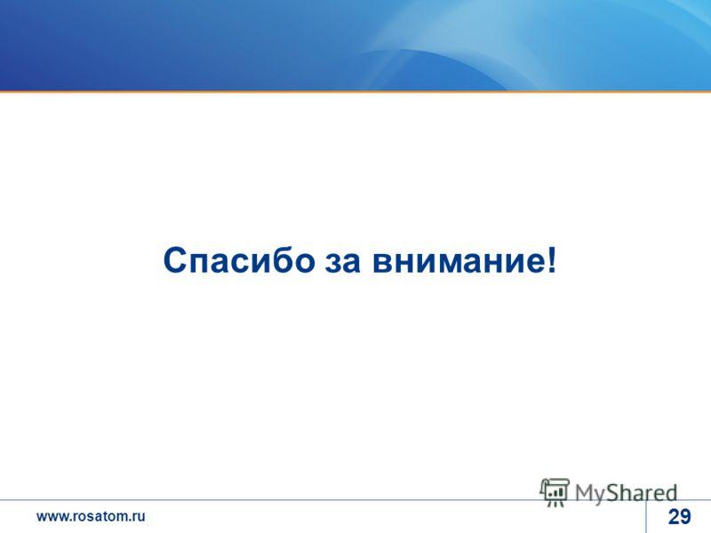 www.rosatom.ru 29 Спасибо за внимание!