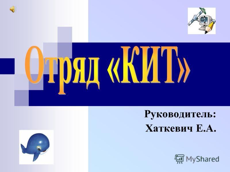 Руководитель: Хаткевич Е.А.