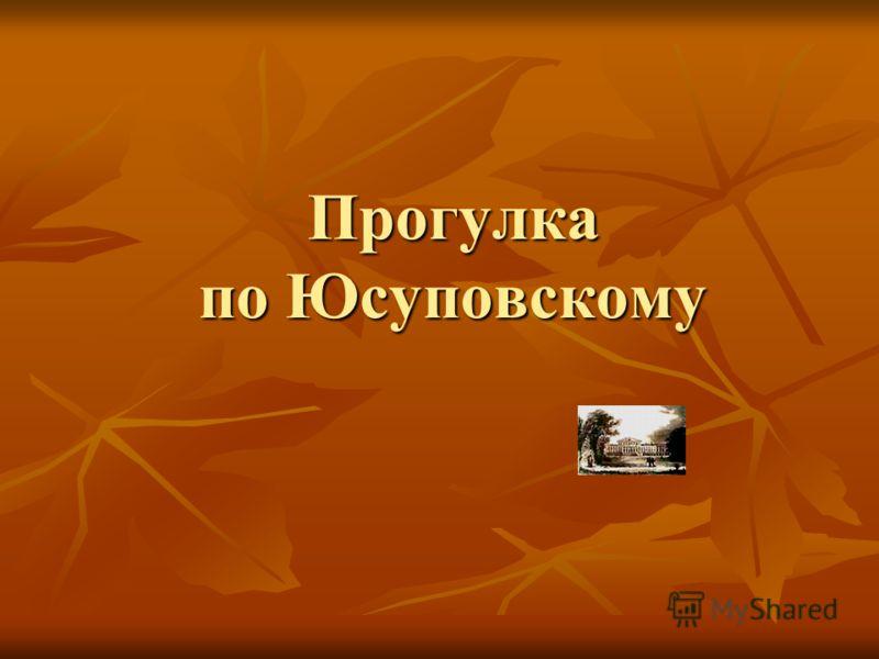 Прогулка по Юсуповскому