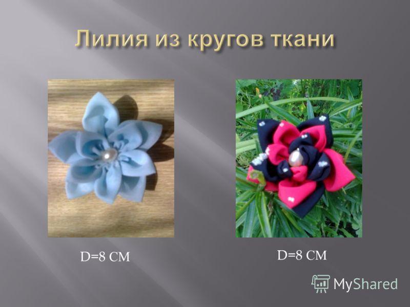 D=8 СМ