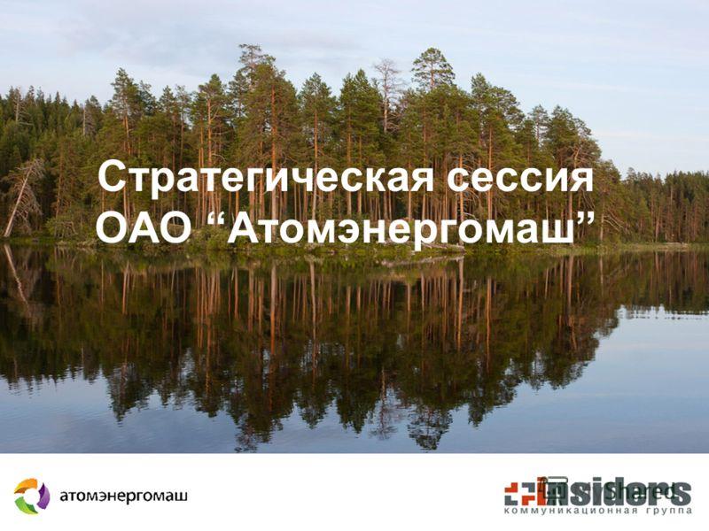 Стратегическая сессия ОАО Атомэнергомаш