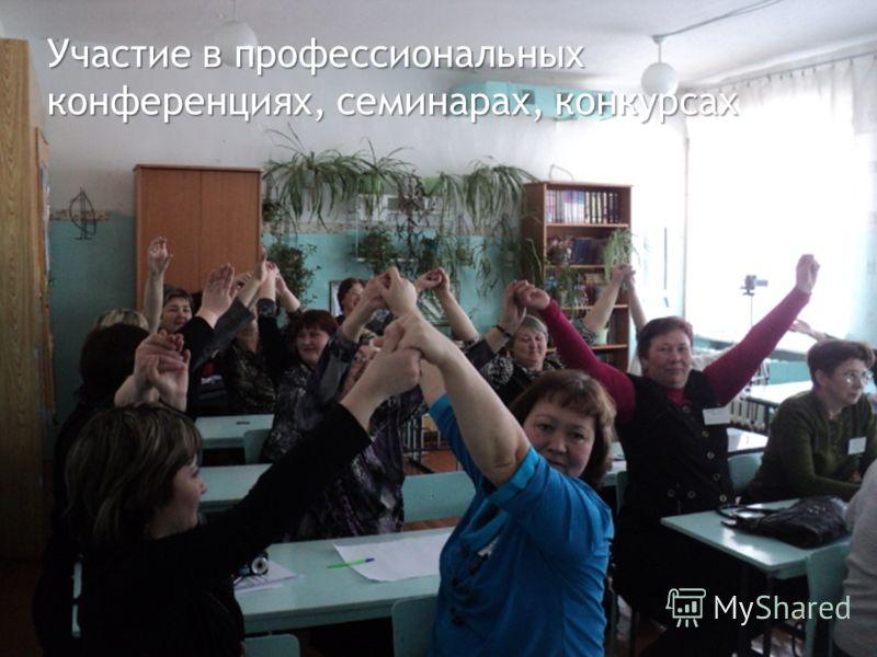 Участие в профессиональных конференциях, семинарах, конкурсах